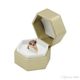 $enCountryForm.capitalKeyWord UK - Six Angles Novel Ring Ear Studs Jewelry Box Ornaments Storage Boxes Trinket Portable Light Packing Case 2 5lz cc