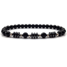 Chinese  2018 new trendy gold simple black stone bead bracelet style for men women fashion charm bracelet vintage jewelry manufacturers