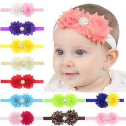 20 pcs Baby Girls Shabby Flower Elastic Headbands Hairbands Hair  Accessories Headwear Sun flower pearl children hair band H002 7146c660c121