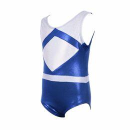 b2a54f60a281 European Style Kids Girl Ballet Suit Practice Wear Gymnastics Dance  Sleeveless Color Matching Skinny Dancewear