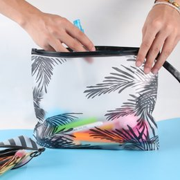 $enCountryForm.capitalKeyWord NZ - 2018 New Hot Sell 1PC Fashion PVC Makeup Pouch Zipper Coconut Tree Cosmetic Bag Travel Organizer Cosmetic Storage Pouch