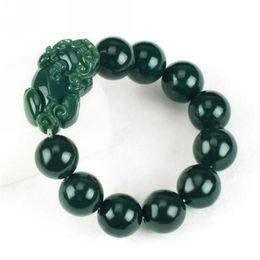 Fashion pearl bracelets online shopping - Natural Hand String Stone Jade Stretch Elastic Bracelet Fashion Jewelry Pure Handmade Bracelets For Women Men Gift fs jj