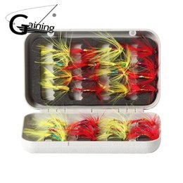 40pcs Fishing Trout Fly Fishing Flies Wet Dry Nymph Buzzers Fly Hooks 8//10//12#