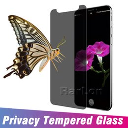 $enCountryForm.capitalKeyWord NZ - For Iphone XS MAX XR X 10 Privacy Screen Protector Shield Anti-glare Real Tempered Glass For Iphone 8 7 6S Plus Without Package