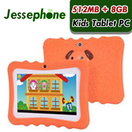 "children tablets wifi Australia - 60X Hot Kids Brand Tablet PC 7"" Quad Core children tablet Android 4.4 Allwinner A33 google player wifi big speaker protective cover"
