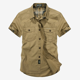 626c79ebcc3 Summer Military Style Men Casual Shirts Spring High Quality Cotton Solid  Shirt Classic Design Breathable Brand Dress Shirts