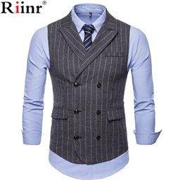 $enCountryForm.capitalKeyWord Australia - Riinr 2018 New Dress Vests For Men Slim Fit Mens Suit Vest Male Waistcoat Gilet Homme Casual Sleeveless Formal Business Jackets