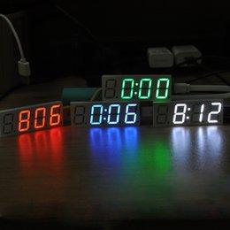 DS3231 электронные DIY 0.8 дюймов Dot Matrix LED часы Kit цифровой дисплей зеленый красный синий белый свет 5 в Mciro USB автомобильные часы