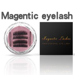 Discount false hair accessories - Magnet 3D Magnetic False Eyelashes Natural Hand-made 3 Magnetic False Eyelashes Eye Lashes Beauty Makeup Accessories 300