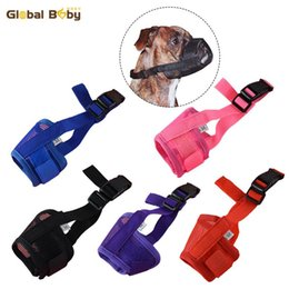 $enCountryForm.capitalKeyWord Australia - Hot Sale 5 Sizes 5 Colors Preventing Barks Nylon Soft Dog Pet Muzzle Mask