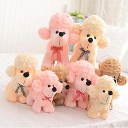 $enCountryForm.capitalKeyWord Canada - Doll Cute Baby Animals Plush Toy Stuffed Dog Poodle Birthday Gift Puppy Doll Caniche Toys For Children Girls