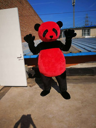 Wholesale red panda cartoon resale online - High quality Real Pictures Deluxe Red panda Mascot Costume Mascot Cartoon Character Costume Adult Size