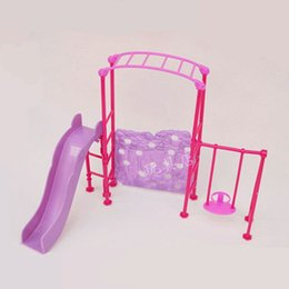 China Girl Play House Doll Amusement Park Slide Swing Accessories for Doll cheap girls play dolls suppliers
