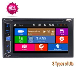 English Audio Music NZ - EinCar Double Din Stereo Bluetooth car DVD Radio USB TF AUX 6.2''Touch Screen Car DVD CD Player 1080p Video Audio Music Player