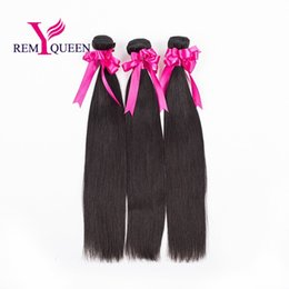 18 Inch Hair Length Straight NZ - Dream Remy Queen Unprocessed Hair Silky Straight 3 Bundles a lot 8A Mixed Length Natural Color Brazilian Hair Weft Extension