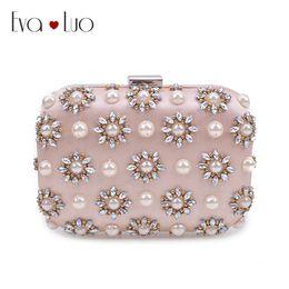 c5de17d700 JZX7 DHL Light Pink Beading Perle Crystal Evening Bags Clutch Borsa da donna  Borse da donna Borsa da sposa