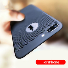 Hollow pHone cases online shopping - Ultra Slim Phone Case For iPhone s Plus X Xs XsMax Xr case Hollow Heat Dissipation Cases Hard PC