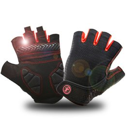 Bicycle Gloves Mountain NZ - Wholesale Summer Cycling Gloves Gel Half Finger Shockproof Sport Gym Gloves Guantes Ciclismo MTB Mountain Bicycle Bike Glove For Men women