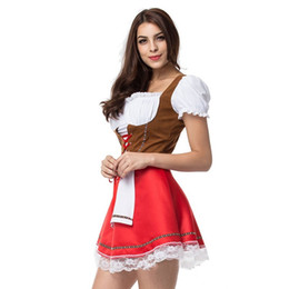 Sexy Adult Beer Girl Festival Dresse Halloween Costume Cosplay per le donne Bretelle Dress Festival Stage Suit