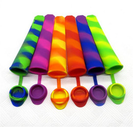 push up ice mold Australia - Ice Pop Mold Popsicle Mould with Attached Cap Silicone Push Up Ice Cream Jelly Lolly Pop Maker C162