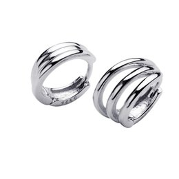 Solid Hoop Earrings UK - Wholesale Hoop Earrings 100% Guaranteed Solid 925 Sterling Silver Hoop Earrings yh5102