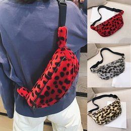 Wholesale Pillow Packs Australia - 2018 Women Waist Bag Leopard Bag Autumn Winter Faux Fur Fanny Pack Women Money Waist Pouch Travel Leisure Belt Chest