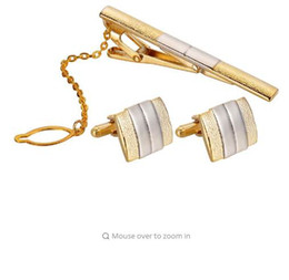 $enCountryForm.capitalKeyWord Australia - LASPERAL Luxury Gold Color Cufflink & Tie Clip Sets For Men Tie Pin Cufflink Suit Dress Shirt Decor Fashion Wedding Gift Package