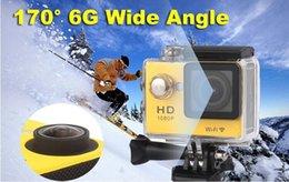 Remote video cameRas online shopping - W9R Sports Cameras WIFI Remote Control Sports Video Camcorders P Lens quot Waterproof m Helmet Cam Mini DV