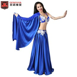 Professional Belly Dancing Costumes Set Performance Diamond 2PCS Bra Skirt  Luxury Handmade Women Belly Dance Colour 3 753cfbeb4952