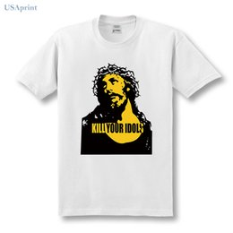 dfa0c85bbb738 USAprint Summer Vintage Rock T Shirts Men Kill Your Idols Rock Band Jesus  Tshirt Cotton Short Sleeve O Neck Harajuku Hip Hop