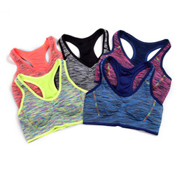 a087ea823be Women Sports Bra Fitness Lady Yoga Underwear Push up Wireless Shockproof  High Elastic Female Running Wear For Wholesales