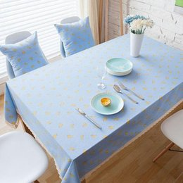 $enCountryForm.capitalKeyWord NZ - Linen Cotton Table Cloth Banana Printed Blue Lace Rectangular Table Covers Party Kitchen Tablecloth Nappe Free Shipping ZB-59