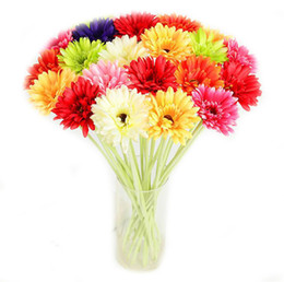 $enCountryForm.capitalKeyWord UK - Artificial Flower With 9 Colors Option Gerbera Fake Silk Flowers Colorful for Birthday wedding Party Home Decoration