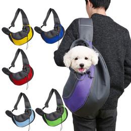 mini mesh bags 2019 - Pet Puppy Carrier Outdoor Travel Handbag Pouch Mesh Oxford Single Shoulder Bag Sling Mesh Comfort Tote Shoulder Bag Back