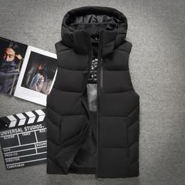 Coats Light Grey NZ - Autumn Winter Men Coat Warm Sleeveless Jacket Casual Men Vest Coat Waistcoat ultra light down vest 806