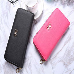 Christmas Card Packs Canada - Women's Wallet Long Hand Clutch 2018 Hot Korean Coin Purse Zipper Key Card Pack