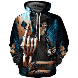 Discount oversized christmas sweaters - Halloween, Christmas fashion hip hop men's sportswear hooded sweatshirt oversized new 3D printed sweater 12 styles