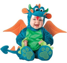 dinosaur baby romper NZ - RETAIL Baby Infant Lion penguim dinosaur Romper Kids One Suit Animal Cosplay Shapes Costume Child autumn winter Clothing 0121