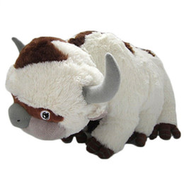 avatar animado al por mayor-50CM The Last Airbender Resource Appa Avatar Peluches Peluche Muñeca Vaca OX Toy Gift Kawaii Peluches Unicornio Almohada Ganado