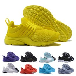 Air sport hiking shoes online shopping - Designer Mens Presto Running Shoes Sport BR QS White Black Yellow Pink Breathable Air Zapatos sports Men Trainers Womens Sneakers