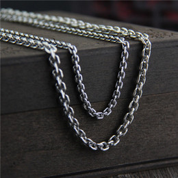 $enCountryForm.capitalKeyWord NZ - vintage jewelry 925 sterling silver neckace fashion 4.5mm 45-80cm necklace long sweater chain bare chain for men women silver body necklace