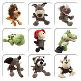 $enCountryForm.capitalKeyWord Australia - cute cartoon plush baby toy Nici hippo wolf giraffe raccoon crocodile stereo hand puppet baby telling story