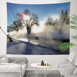 Sublimation Cotton NZ - Best Factory Price Fast Delivery Hazy Vision of Fog Sublimation Printed Customized 130x150cm Wall Hanging Tapestry for Home Decoration