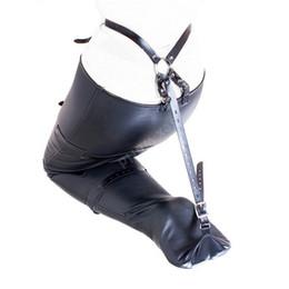 $enCountryForm.capitalKeyWord UK - PU Leather Bondage Restraint Bag Belt Leg Binders Slave Ankle Restraints Sex Toys Bundled Binding Erotic Sex Game Product