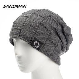 44965a80573 SANDMAN Star Winter Hat Add Fur Warm Beanies Hat Baggy Skullies Knitted For  Men Women Ski Sports Beanies Cap