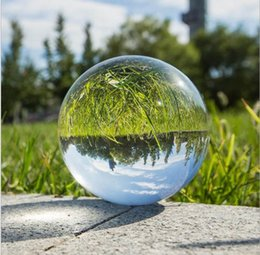 $enCountryForm.capitalKeyWord Australia - Clear Photography Crystal Ball 80 mm Glass Marbles Balls Feng shui Home Decor Sphere Magic Globe Office Presse-papier