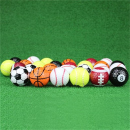 Wholesale Golf Practice Balls Game Ball Gift Sports Gift Set Many Styles Kernel Elastic Rubber Dupont Shell Reusable 3jl dd