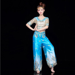 women national clothing Canada - Belly Oriental Dance Costumes Ancient Traditional National Xin Jiang Stage Dance Dress india style dance Clothing For Women