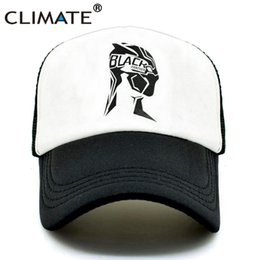 b6523621d7ab0e CLIMATE Men Women New Caps Hat Black Panther Cool Summer Caps Wakanda Black  Panther Baseball Mesh Net Trucker Cap Hat