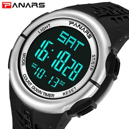 Sports Watches Waterproof Wristwatches Luxury Digital Canada - PANARS Top Brand Men Watches Luxury Fashion Military Sports Wristwatches Mens LED Digital Waterproof Relojes Hombre Clock
